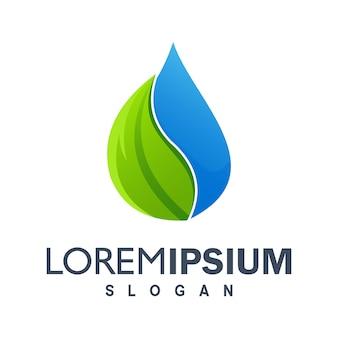 Logo coloré d'eau goutte