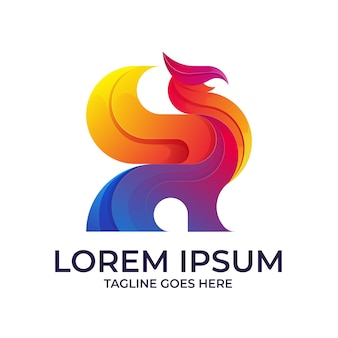 Logo coloré de griffon