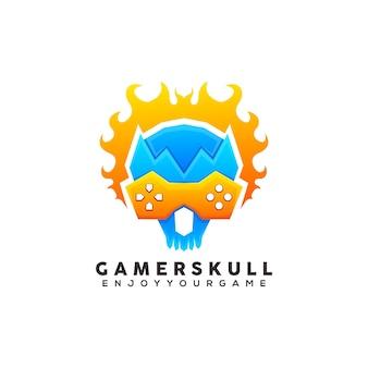 Logo coloré de l'homme gamer