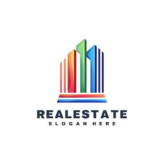 Logo coloré immobilier