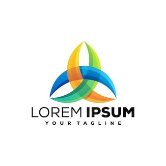 Logo coloré impressionnant de médias