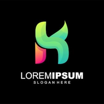 Logo coloré lettre h