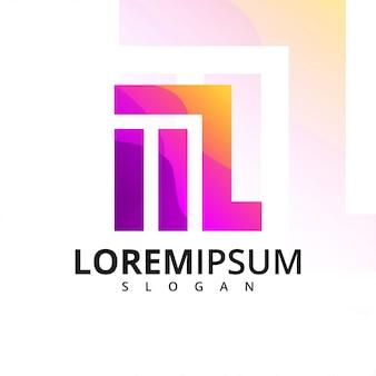 Logo coloré de la lettre m