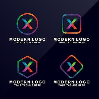Logo coloré de la lettre x