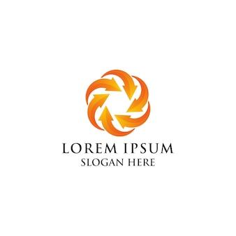 Logo coloré de la nature lotus