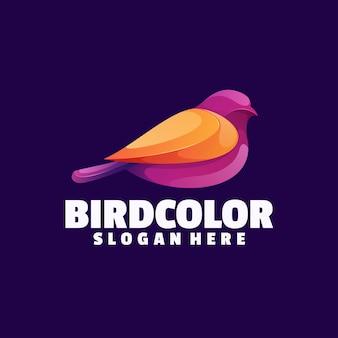 Logo coloré d'oiseau