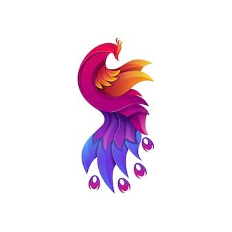 Logo coloré de paon