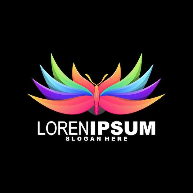 Logo coloré de papillon