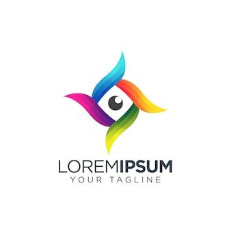 Logo coloré des yeux