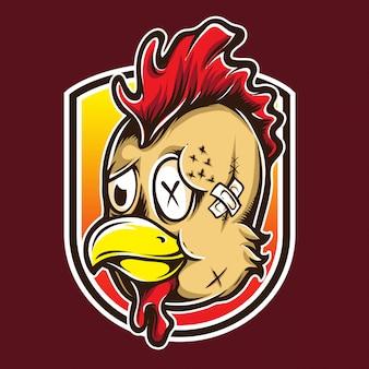 Logo de combat de poulet