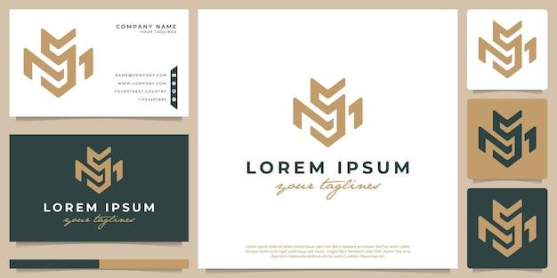 Logo combiné avec les lettres m et s, minimaliste