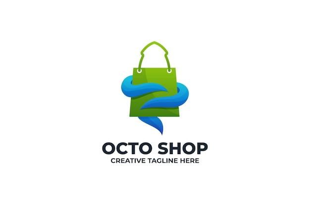 Logo de commerce électronique de la boutique en ligne