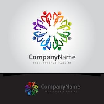 Logo communautaire coloré