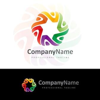 Logo communauté v lettre