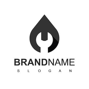 Logo de la compagnie pétrolière, symbole d'entretien de l'huile