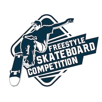 Logo de compétition de skateboard freestyle