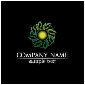 Logo de concept convivial eco feuille arbre vectoriel design
