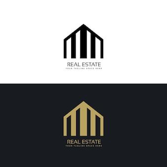 Logo concept créatif design immobilier