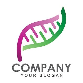 Logo concept feuille d'adn