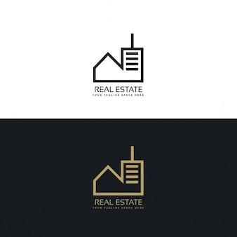 Logo concept moderne de conception de l'immobilier