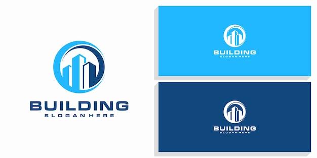 Logo de conception de bâtiment
