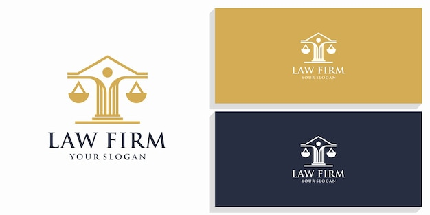Logo de conception de droit et cabinet