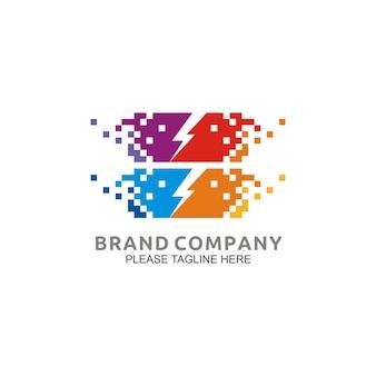 Logo de conception d'énergie électrique