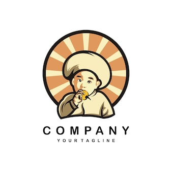 Logo de conception illustration beby chef