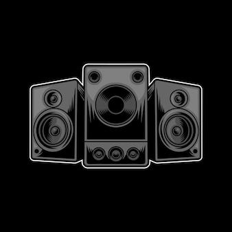 Logo de conception d'illustration de haut-parleur