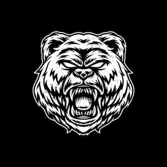 Logo de conception d'illustration d'illustration d'ours