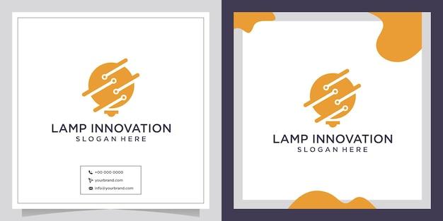 Logo de conception d'innovation de lampe de technologie