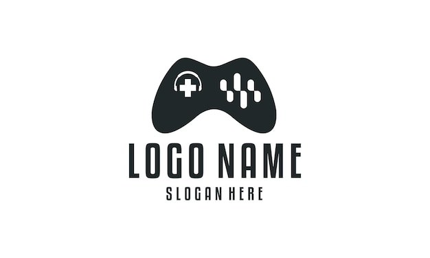 Logo de conception de jeux de musique