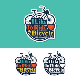 Logo de conception de la journée mondiale sans voiture