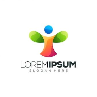 Logo de conception de logo de personnes
