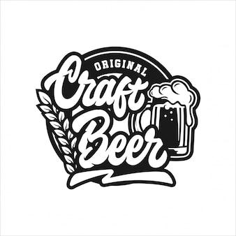 Logo de conception originale de bière artisanale