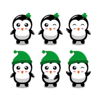 Logo de conception de pingouin mignon