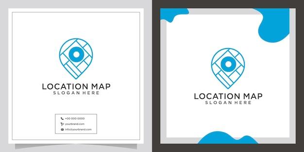 Logo de conception de point de carte du monde