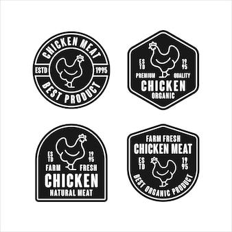 Logo de conception premium de viande de poulet