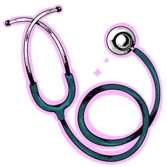 Logo de conception de stetchoscope