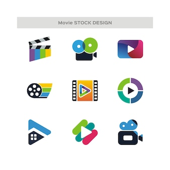 Logo de conception de stock de film