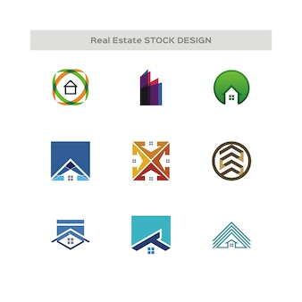 Logo de conception de stock immobilier