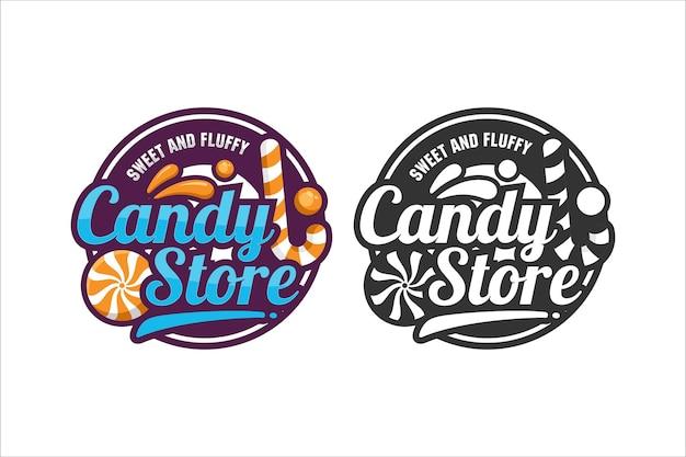 Logo de conception de vecteur de magasin de bonbons