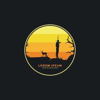 Logo de concepts de conception de tir à l'arc créatif