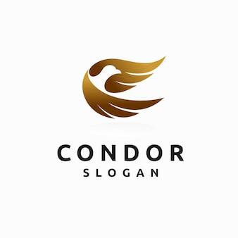 Logo condor avec concept de lettrage