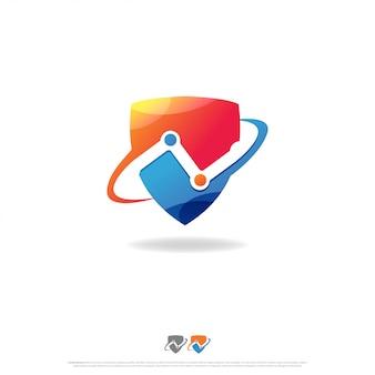 Logo de connexion de bouclier