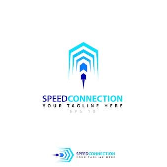 Logo de connexion de vitesse