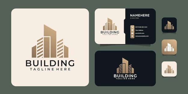 Logo de construction de bâtiment inspirant