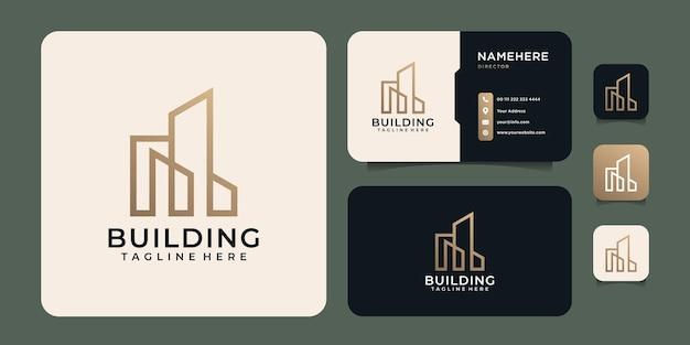 Logo de construction de bâtiments immobiliers modernes