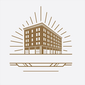 Logo de construction avec un classique vintage