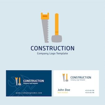 Logo de construction et conception de carte de visite